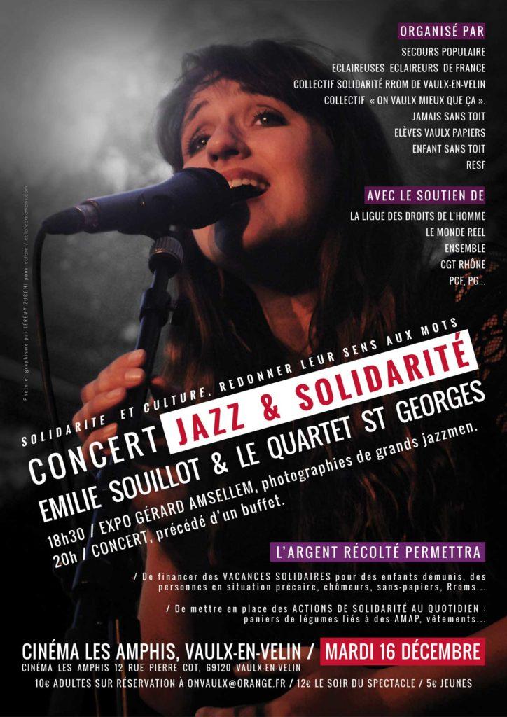 Affiche pour un concert d'Émilie Souillot avec le Quartet Saint-Georges, par Jérémy Zucchi (2015)