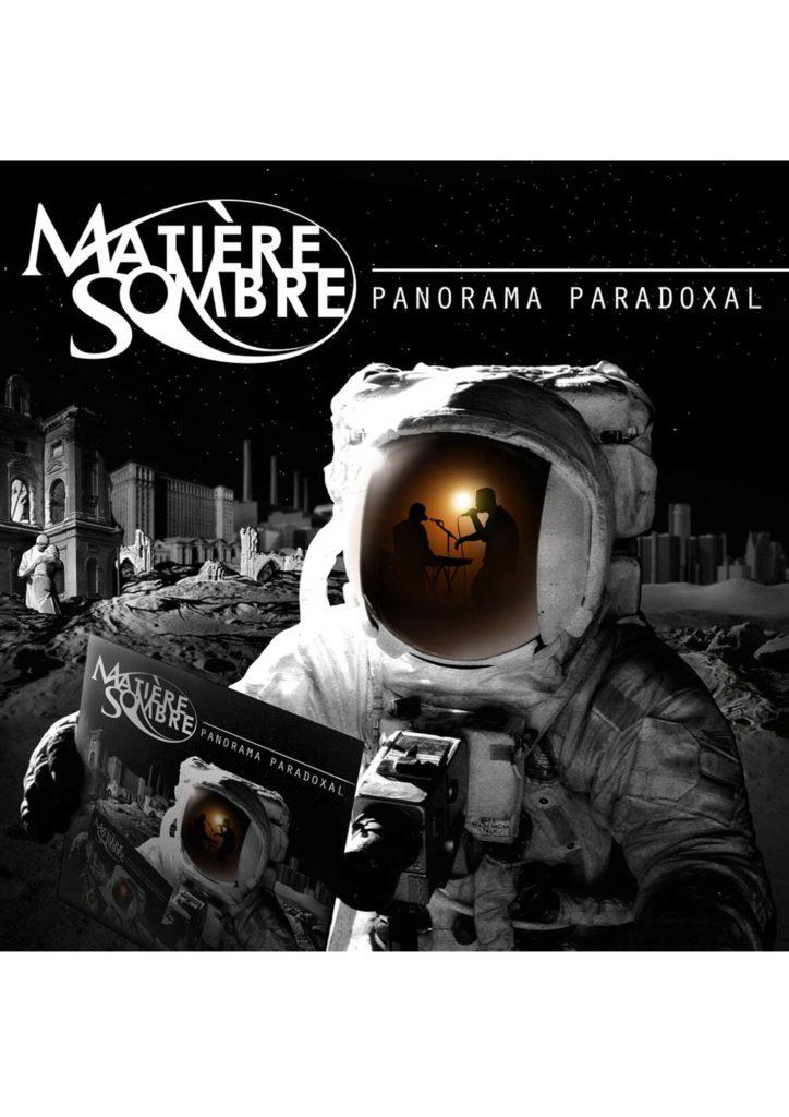 """Pochette de l'album """"Panorama Paradoxal"""" de Matière Sombre, par Jérémy Zucchi (2014)"""