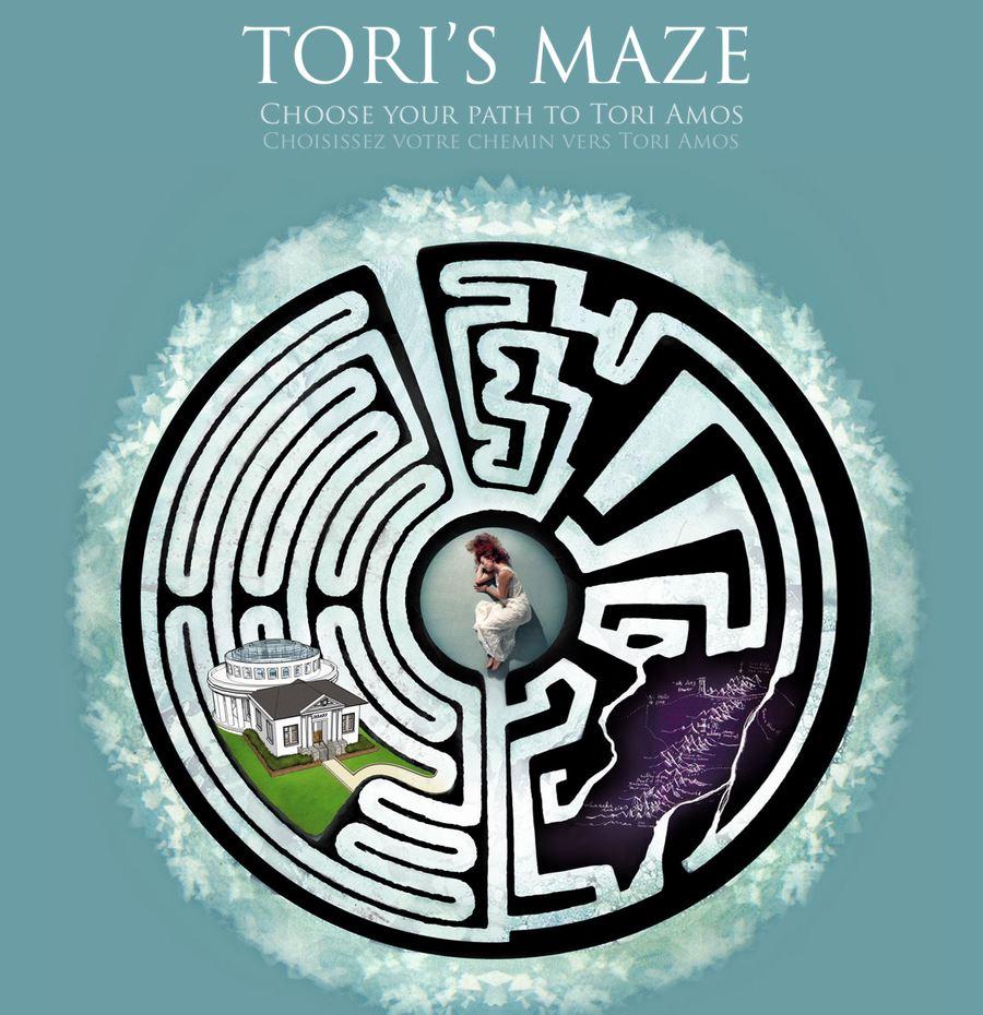 Page d'accueil du site TorisMaze.com de Cécile Desbrun, consacré à Tori Amos, par Jérémy Zucchi (2010)