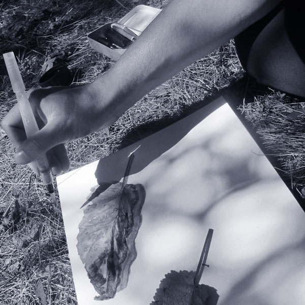 Réalisation d'une aquarelle par Jérémy Zucchi.