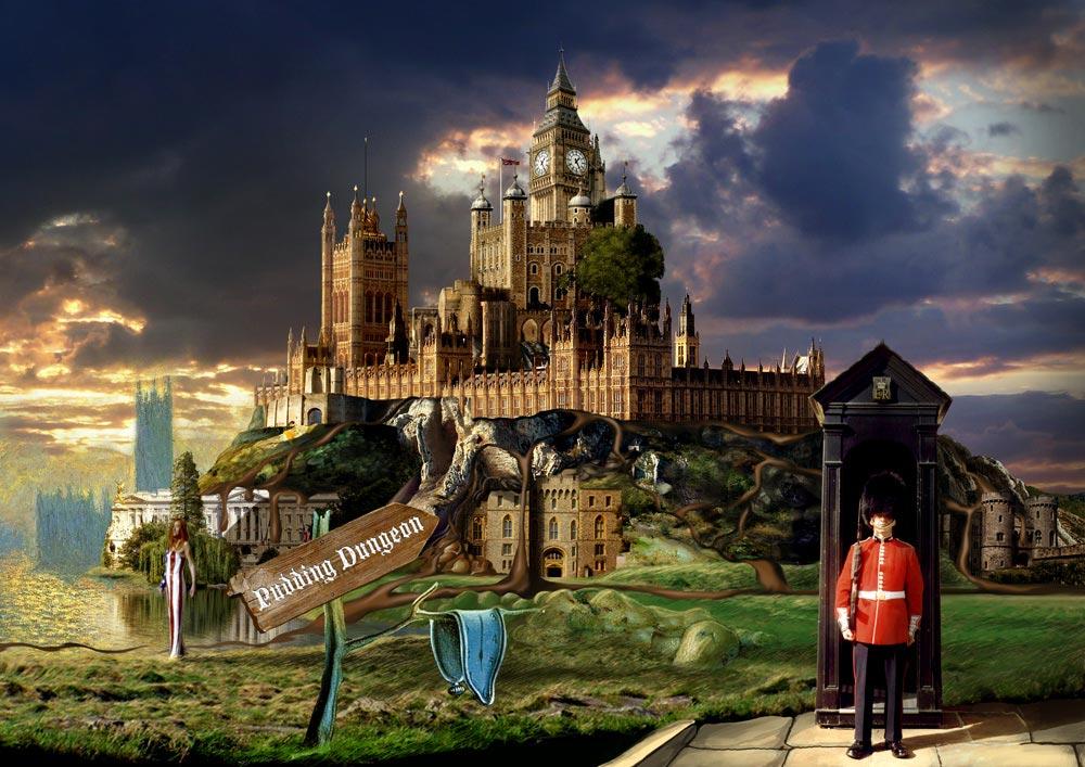 """""""Pudding Dungeon"""" : monde de Tori Amos, image du site web Torismaze.com, par Jérémy Zucchi (2010)"""